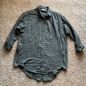 Mikoh Green Button Down Shirt Sz 1 or Small